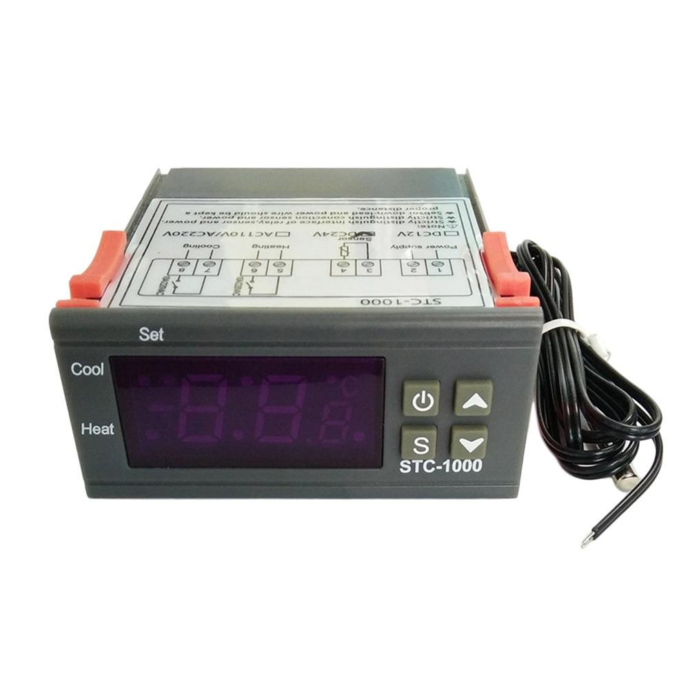detail feedback questions about 12v 24v digital stc 1000 multipurpose temperature controller thermostat with sensor for greenhouse incubation cultivate j3  [ 1001 x 1001 Pixel ]