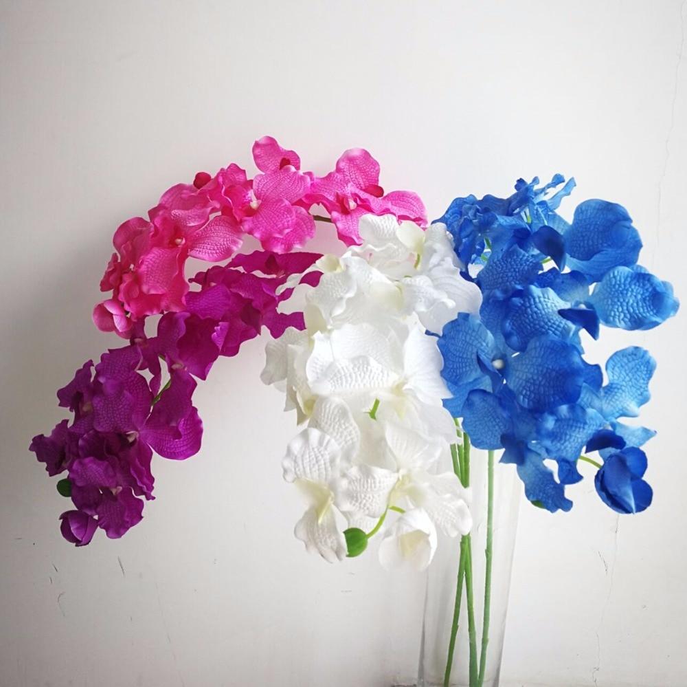 Stoff Einzelschaft Vanda Orchideen 95 cm / 37,4