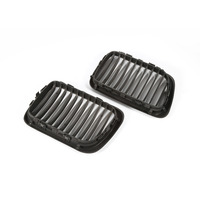 1 Pair Matte Black Front Kidney Grille Grill For BMW E36 3 Series M3 1997 1999