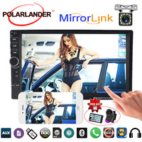10Languages 7inch Car MP5 Radio Player Touch Screen Bluetooth FM TF USB AUX IN Mirror Link Screen Mirror For Android Phone