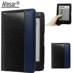 Afesar For Digma e61M eReader 6 inch leather book Cover Case magnetic clasp flip good fit R61M ebook pouch funda