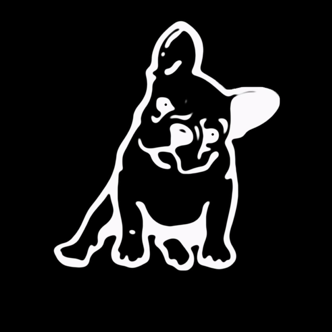 Dewtreetali 11.5*12.7CM FRENCH BULLDOG Dog Vinyl Decal Window Decoration Lovely Animal Car Sticker Black/White