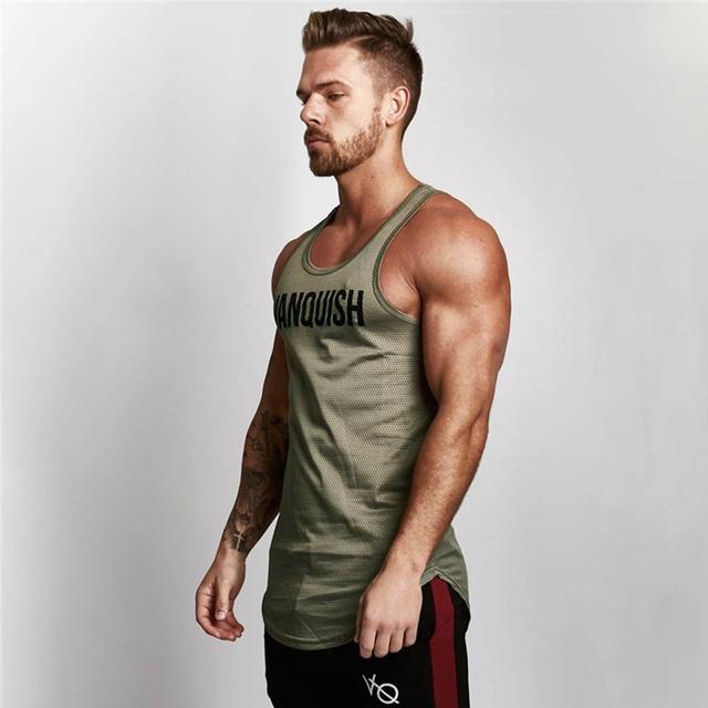 Vanquish Fitness Men Tank Top Mens Bodybuilding Stringers Tank Tops Singlet Gyms vq vest  Brand Clothing men Sleeveless Shirt