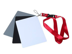 Image 2 - Camera Accessory Big Size(17*12cm) Digital White Black Grey Balance Cards 18% Gray Card with Neck Strap for Digital Photography