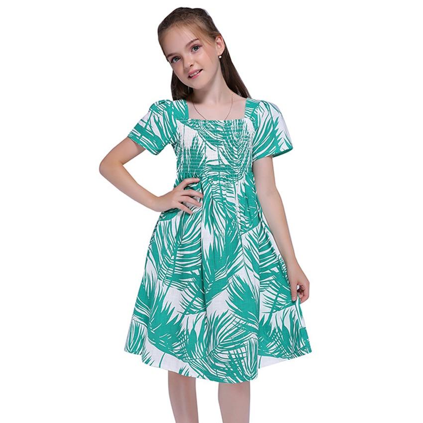 1053 12 De Descuentomoda Casual Vestidos De Verano Para Niñas Ropa De Playa Bebé Niños Manga Corta Respirable Bohemia Vestidos Tamaño 6 8 10 12