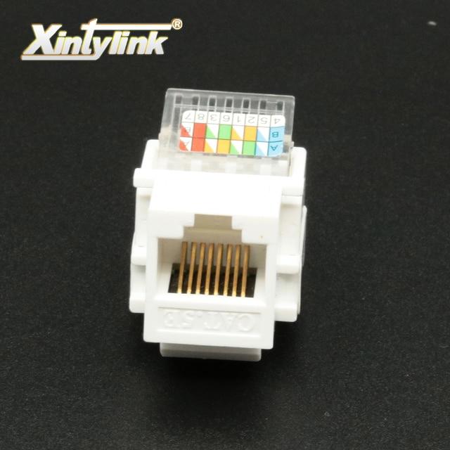 Xintylink Rj45 Jack Cat5e Cat6 Rj45 Socket Tool Less