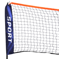 ELOS New Mini Badminton Net,Volleyball Net With Frame Stand Foldable
