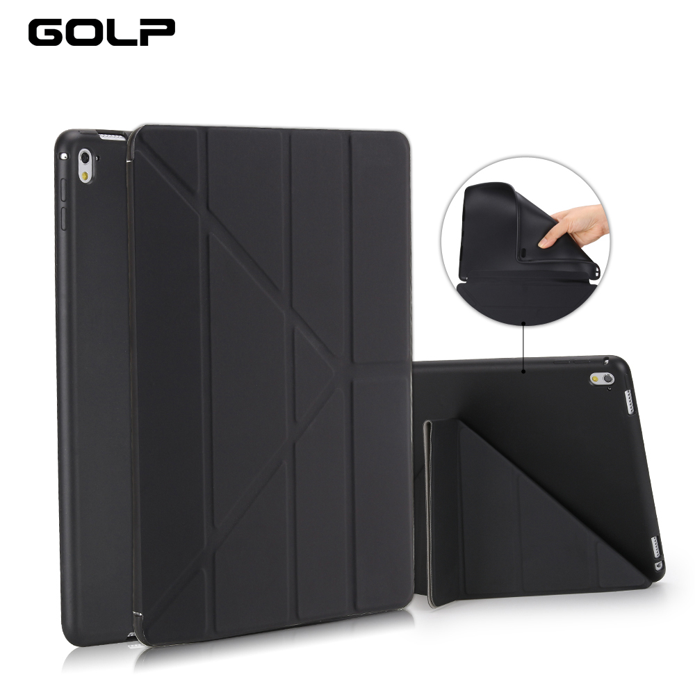 For iPad Pro 9.7 Case PU Leather TPU Soft Back Cover for iPad Pro 9.7 A1673 A1674 A1675 Ultra Thin Flip Case Smart Cover