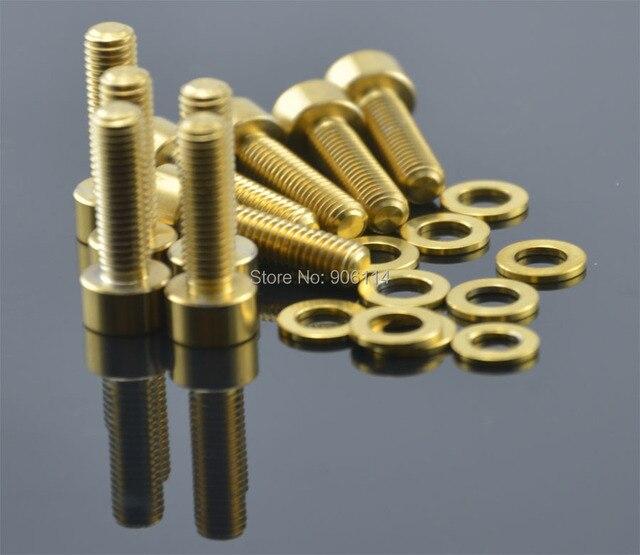 10pcs M5X18 Titanium Ti Socket head Bolt Screw Golden+10pcs Gold Ti Washers