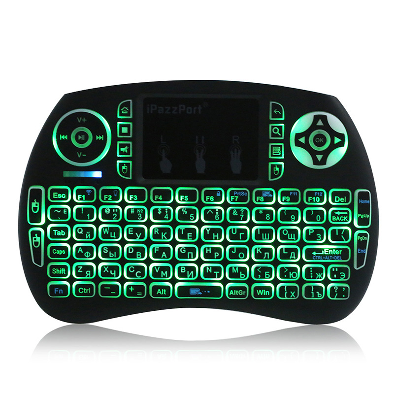 [Russian Version ] 2.4GHz Wireless Gaming Keyboard Touchpad Handheld Remote Control Mice for Smart TV BOX PC Notebook Laptop