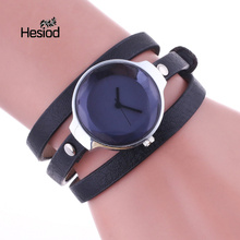 Hesiod High Quality Bracelet Watches Women Candy Color Casual Leather Quartz Wrist Bracelet Watch Luxury Female Dress Watches