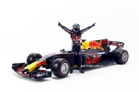 Vettel F1 Racer Doll Model 1:18 Vettel Hand run Red Bull Team Character Model Toy