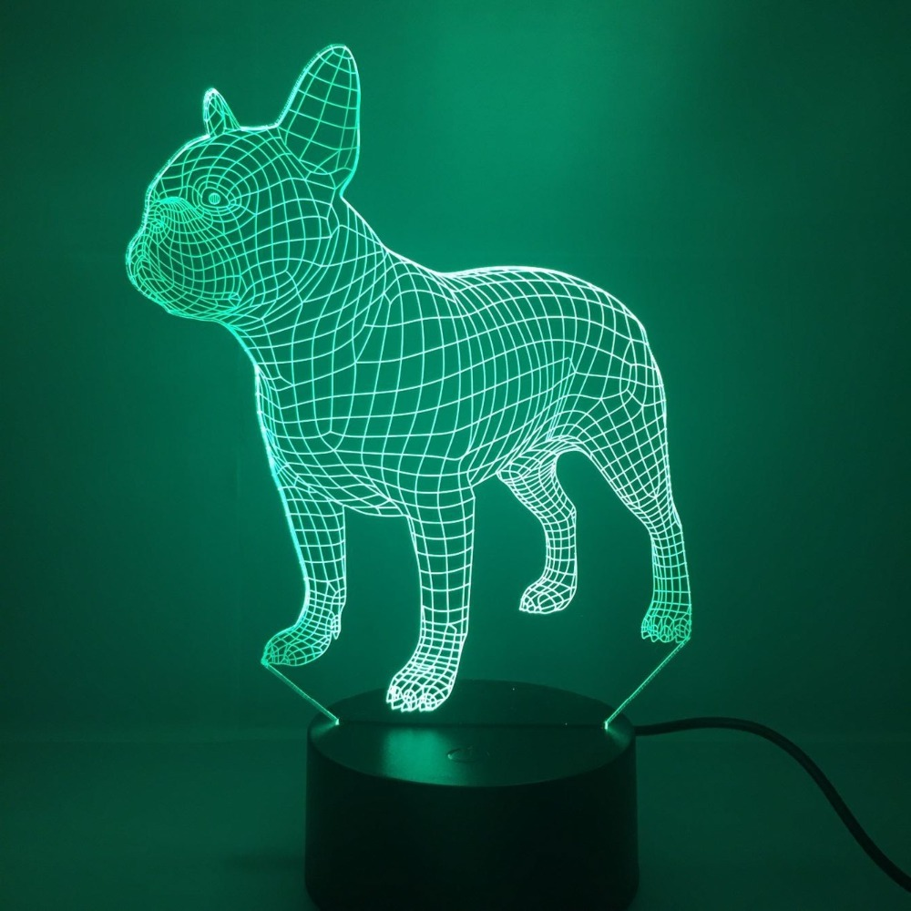 3d Dog Night Light Lamp 7 Color Change Led Touch Switch Usb Powered Table Gift Kids Toys Decor Decorations Christmas Valentines Gift Birthday Gift Mimbarschool Com Ng