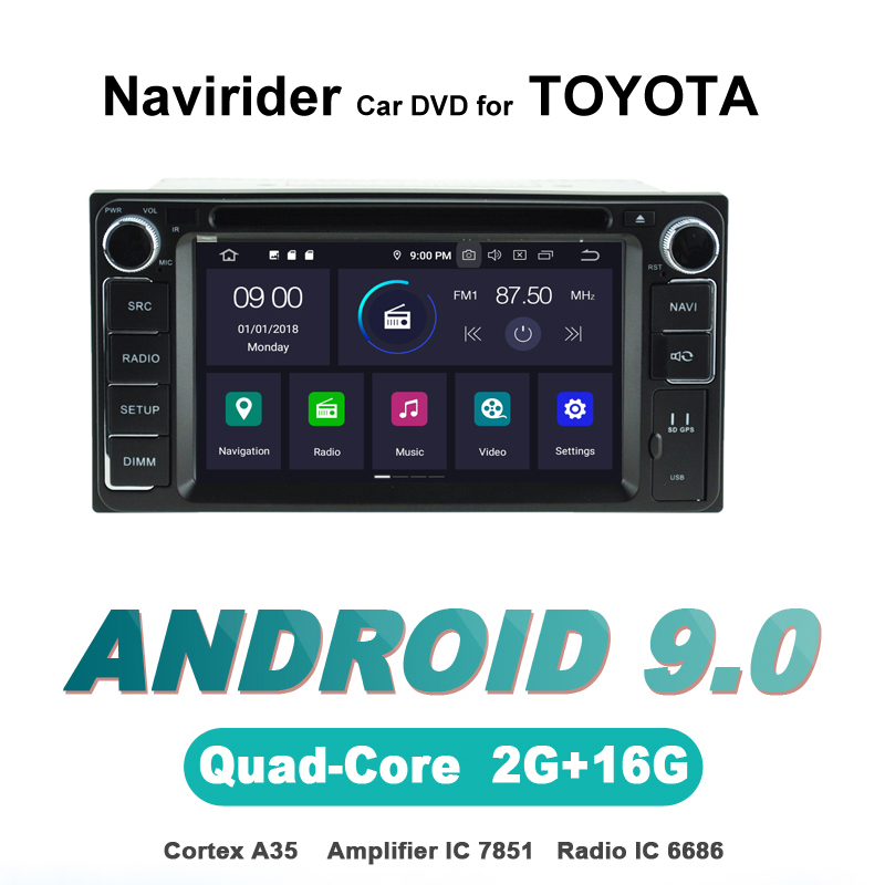 Navirider OS 9.0 De Voiture Android Lecteur Pour TOYOTA corolla hilux lc100 prado fortuner verso vios lexus stéréo radio gps soundSystem