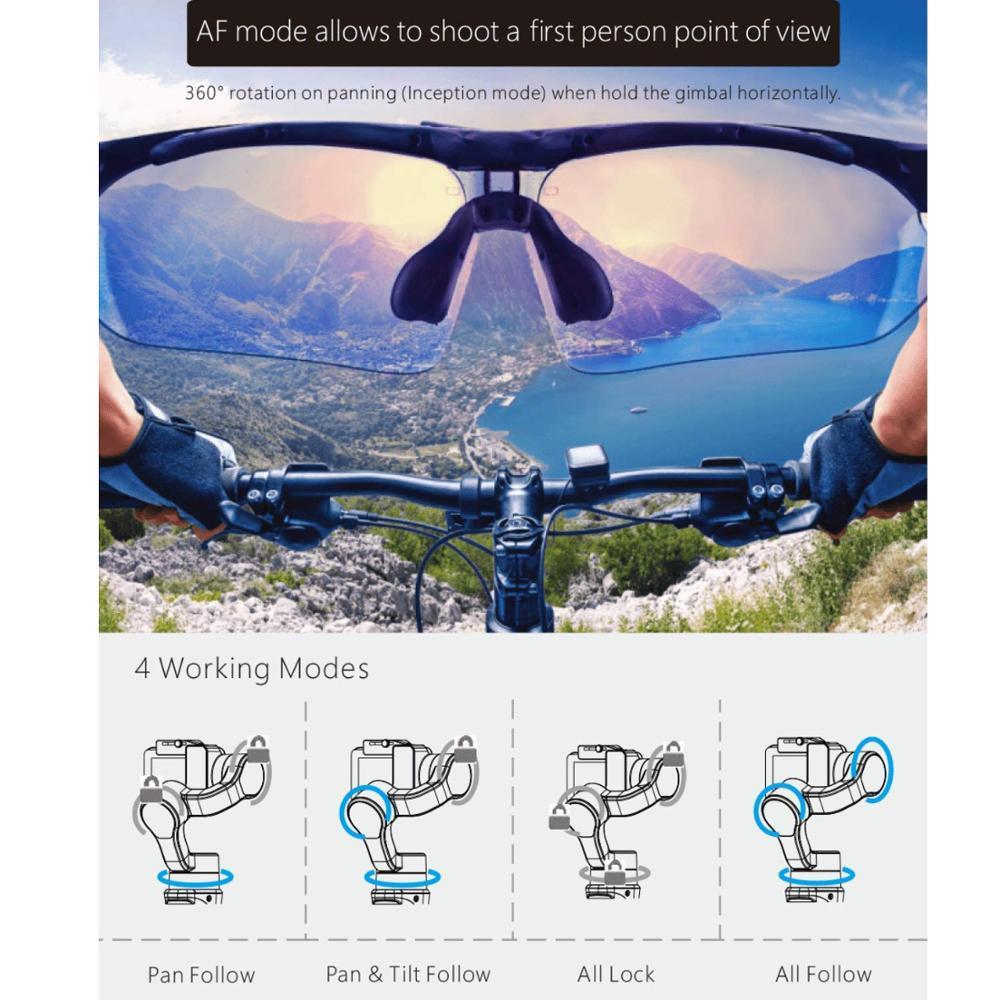 Funsnap Capture 3 Axis Handheld Gimbal Stabilizer Voor Smartphone GoPro 6 SJcam XiaoYi 4k Camera Niet DJI OSMO 2 ZHIYUN FEIYUTECH - 5