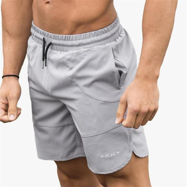 Summer New Men Gyms Shorts Calf-Length Fitness Bodybuilding Fashion Casual Joggers Workout Crossfit Beach Short Pants Sweatpants