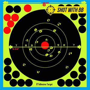 "Image 5 - Caça 8 ""reativo splatter auto adesivo alvo adesivos fluorescentes amarelo tiro prática adesivos para airsoft arma rifle"