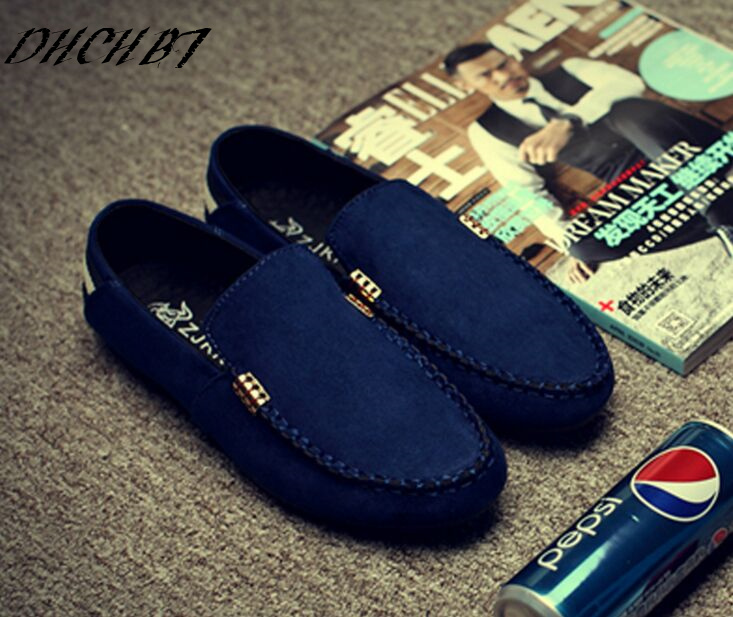9035f106076 2018 fashion suede men shoes soft leather flat shoes casual slip on  moccasins men loafers hight quality driving flats