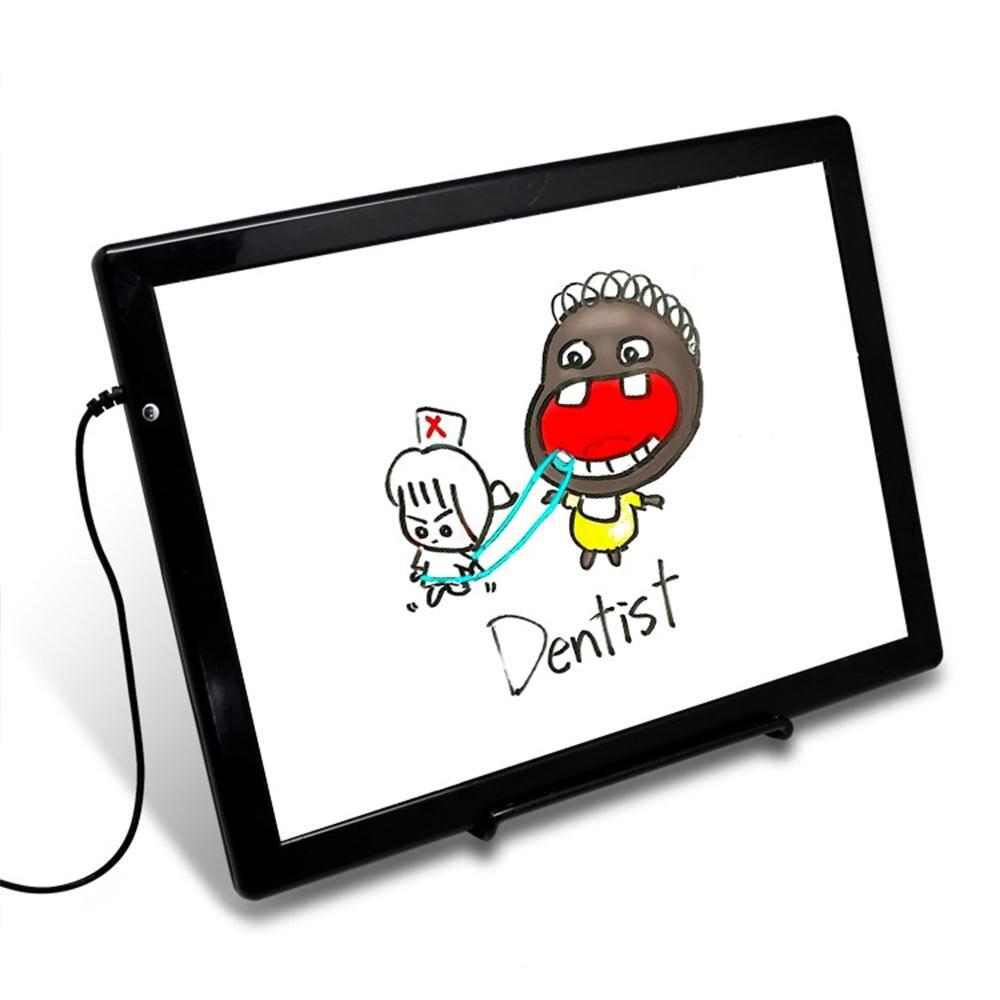 AMZDEAL MENÉE Portative Artiste Mince Pochoir D'art Planche à Dessin Lumineuse légère de Traçage Doodle Écriture Conseil pour Cadeau Enfant