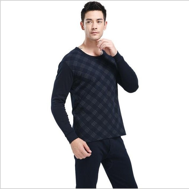 High quality underwear thermal underwear men casual thermal clothing o-neck men underwear fashion men thermal underwear sets
