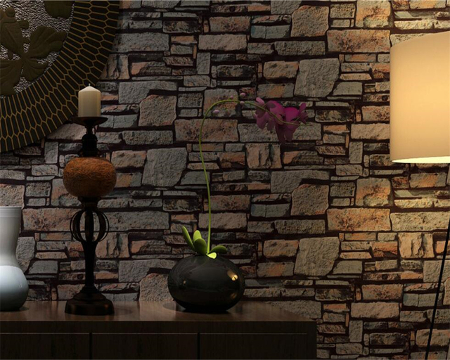Beibehang 3d stereo retro brick wallpaper brick 3d wallpaper behang