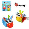 Free Shipping 50pcs/lot Sozzy Baby Animals Wrist Rattles