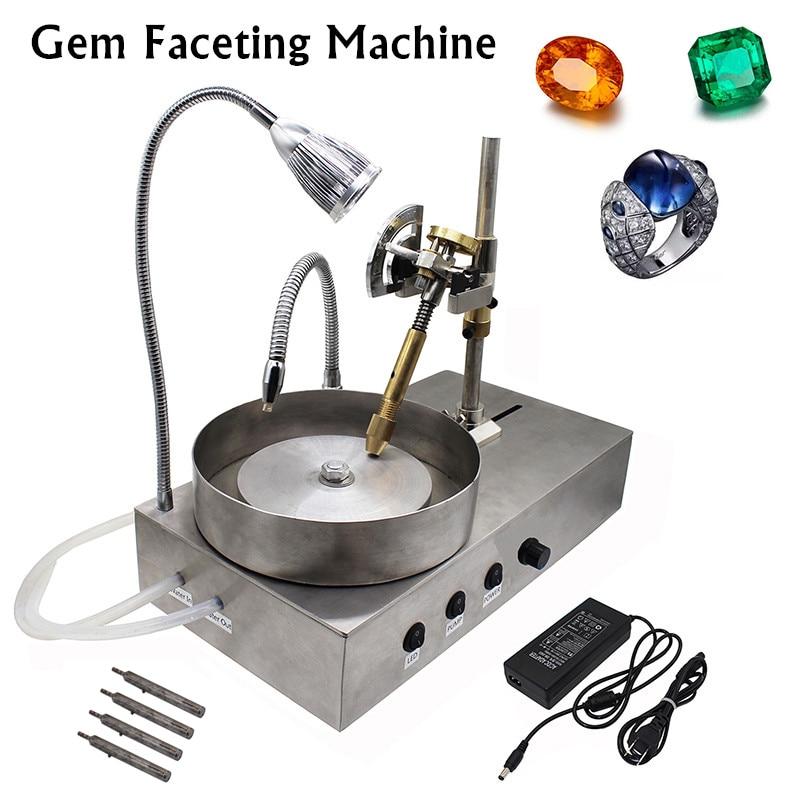 2019 New Gemstone Grinding machine Gem Faceting Machine Jade Stone Angle Machine Jewelry Polisher Flat Grinder+LED+Water pump Y