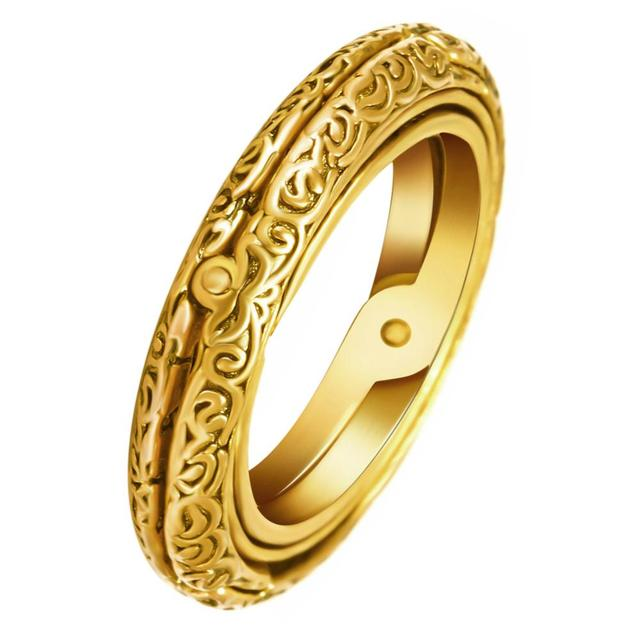 New Design Creative Astronomical Ball Rings Exquisite Vintage Gold Cosmic Ring Constellation Finger Ring Jewelry Gift For Lovers