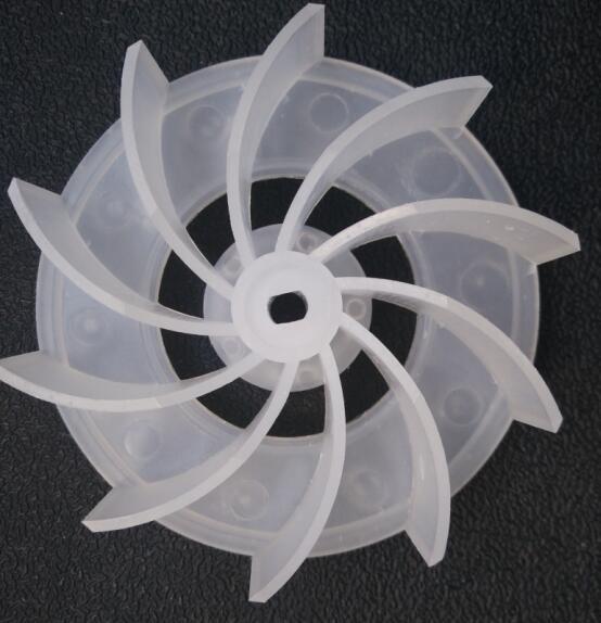 Fan Parts Computer Dust Cleaning Blower Plastic Fan Blade 6X8mm Hole 10.5cm Diameter