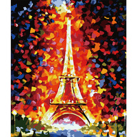 Arts Decor Eiffel Tower Picture By Numbers DIY Hand Painted Oil Painting By Numbers On Canvas