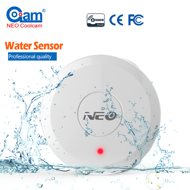 NEO COOLCAM NAS-WS01Z Z wave Flood Water Leak Alarm Sensor Water Leakage Sensor Z-wave Sensor Alarm Home Automation System neo coolcam nas pd02z new z wave pir motion sensor detector home automation alarm system motion alarm system eu us version