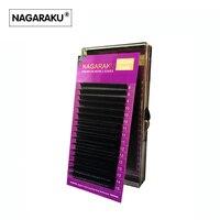 NAGARAKU Mix 8 15mm In One Case Ellipse Flat False Eyelash Extension Flat Mink Eyelashes Ellipse