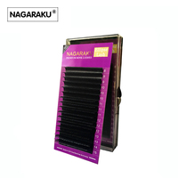 NAGARAKU Mix 8 15mm In One Case Ellipse Flat False Eyelash Extension Flat Mink Eyelashes Ellipse