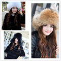 Classic Womens Real 100% Fox Fur Caps Ladies Winter Warm Genuine Raccoon Fur Hat With  Fur  NM12585