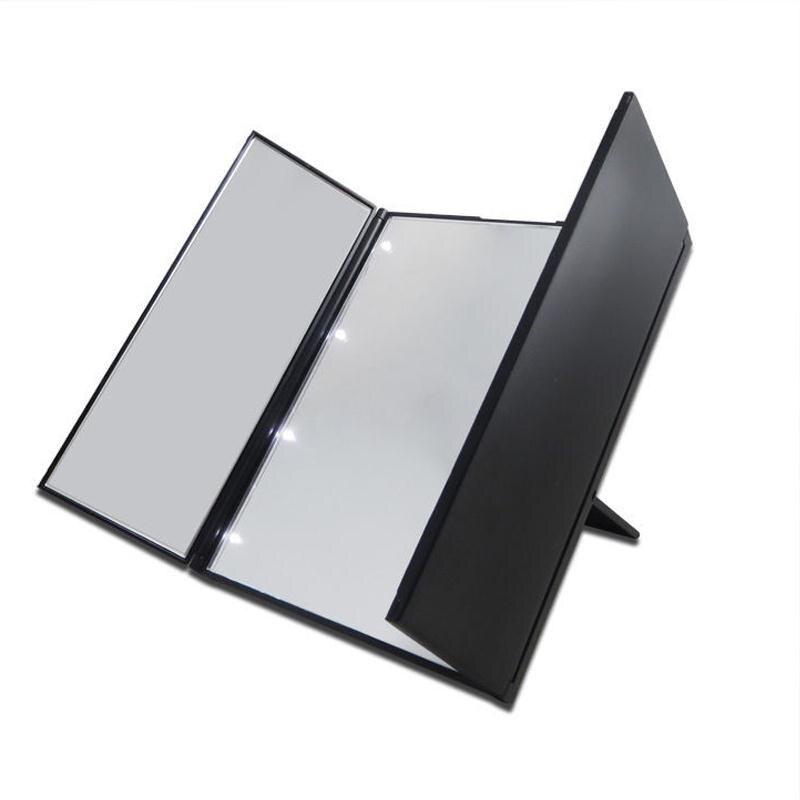 Vanity Folding Travel Illuminated Make Up Dressing Desktop Mirror W  8 LED  Light China. Online Buy Wholesale illuminated shaving mirror from China