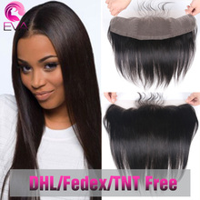 Middle part frontal ear to full lace closure virgin brazilian baby