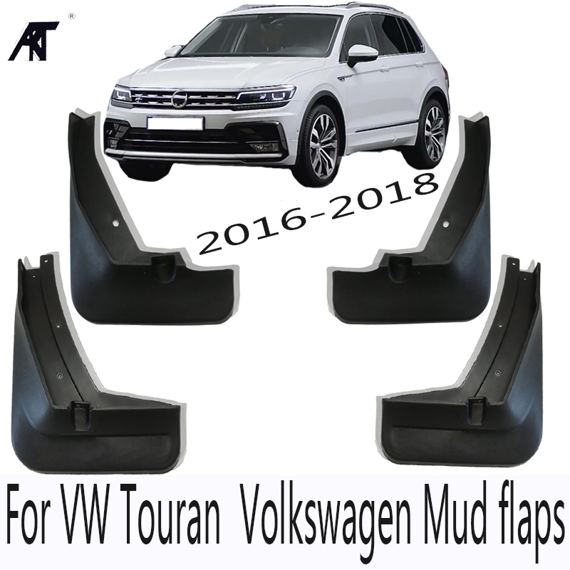 Set Molded Mud Flaps For VW Tiguan 2 Mk2 2016 2017 2018 Mudflaps Splash Guards Front Rear Mud Flap Mudguards Fender Kit fit for bmw x3 f25 11 15 molded mudflaps mud flap splash guard mudguards fender free shipping lzh