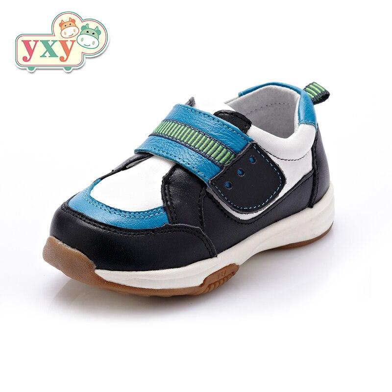 YXY 2019 nouveau printemps enfants garçon filles fonction chaussures décontractées en cuir véritable en cours d'exécution enfants filles garçons Protection chaussures de pied