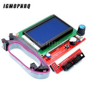 Image 4 - Mega 2560 R3 CH340+1pcs RAMPS 1.4 Controller+5pcs A4988/DRV8825 Stepper Driver Module+1pcs 12864 controller for 3D Printer kit