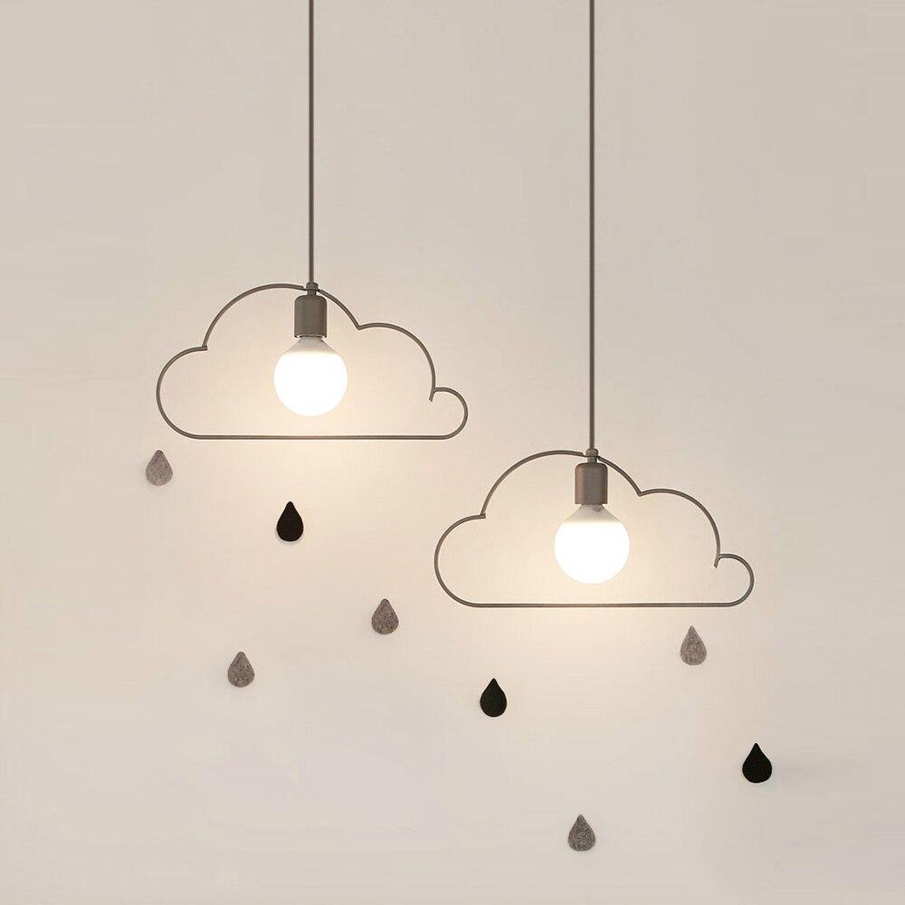 YWXLight Modern Nordic Pendant Light LED Lamp Creative Cloud Modeling LED Lighting E27 Bulb Dining Living Room Kitchen Bar