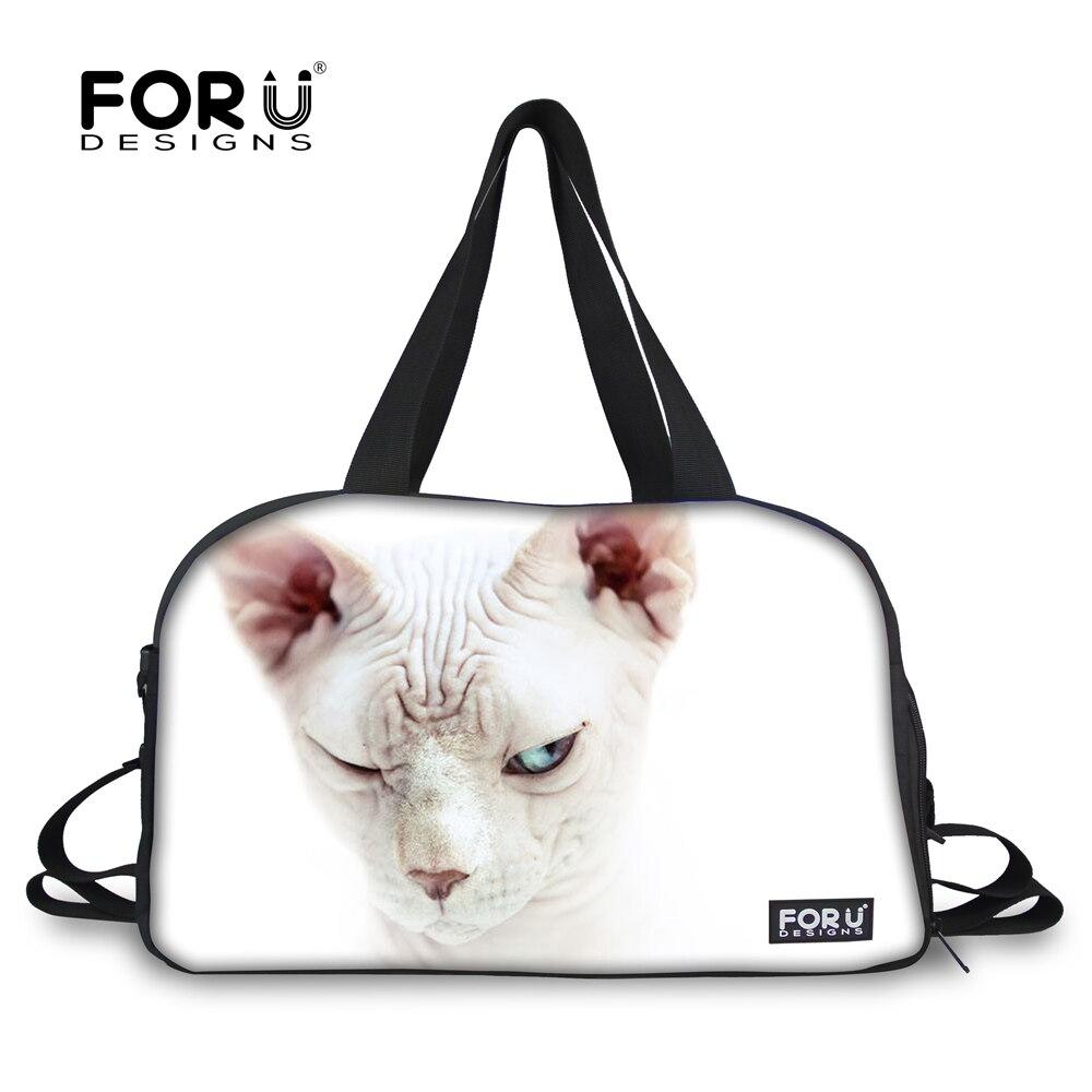 Forudesigns/спортивная сумка Training Сумочка для Для женщин Обувь для девочек независимых Обувь хранения кошка печать Фитнес сумка танец Tote для жен... ...