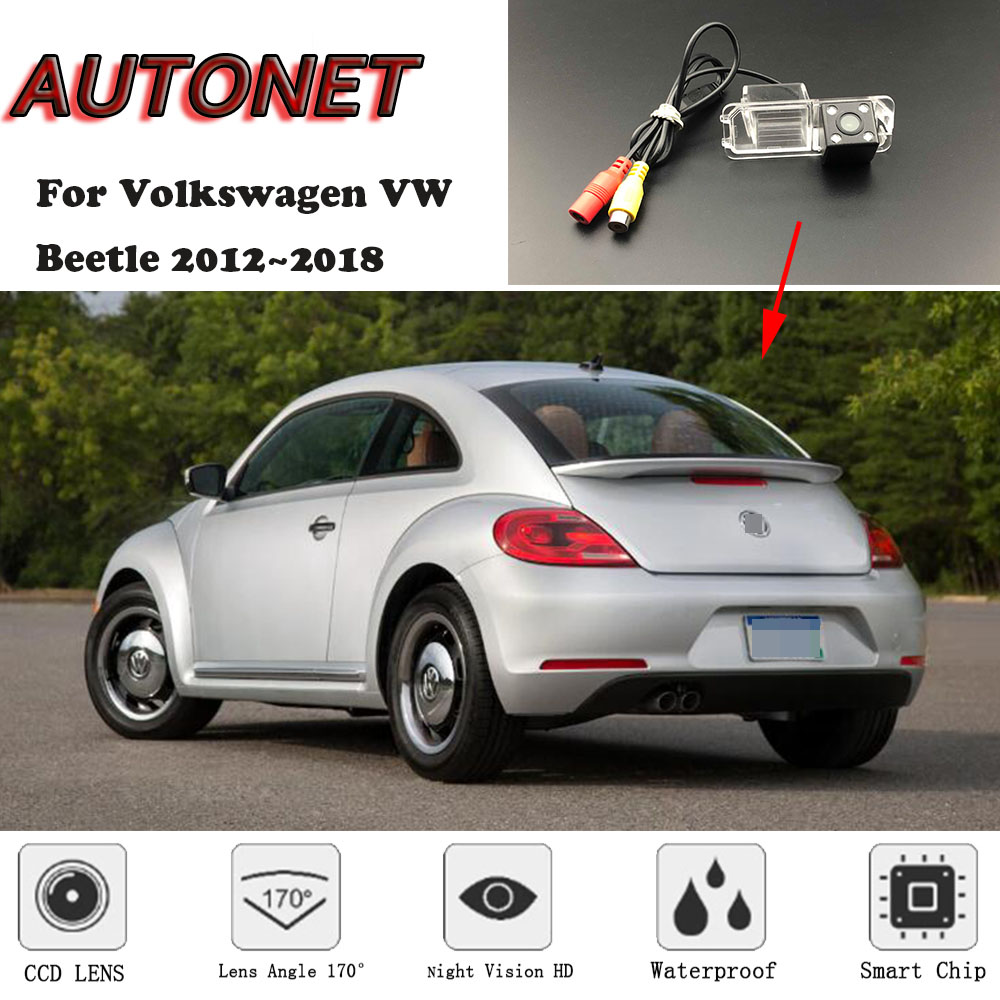 AUTONET Backup Rear View Camera For Volkswagen VW Beetle 2012 2013 2014 2015 2016 2017 2018 Night Vision/license Plate Camera