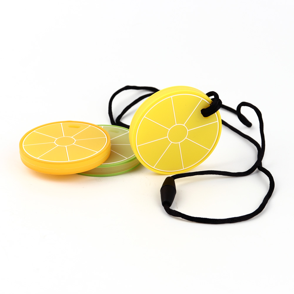 TYRY.HU Lemon Teether 1pc Silicone Teether Teething Toy Baby Teeth Care Pacifier Chain BPA Free Safety Food Grade Silicone