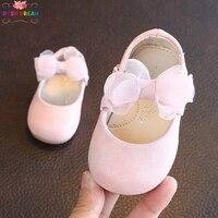 Шикарный мечта Новые Девушки Принцесса обувь шифон Тюль лук розовый белый Малыш обувь 0-2 лет для маленьких девочек повседневная обувь для д...