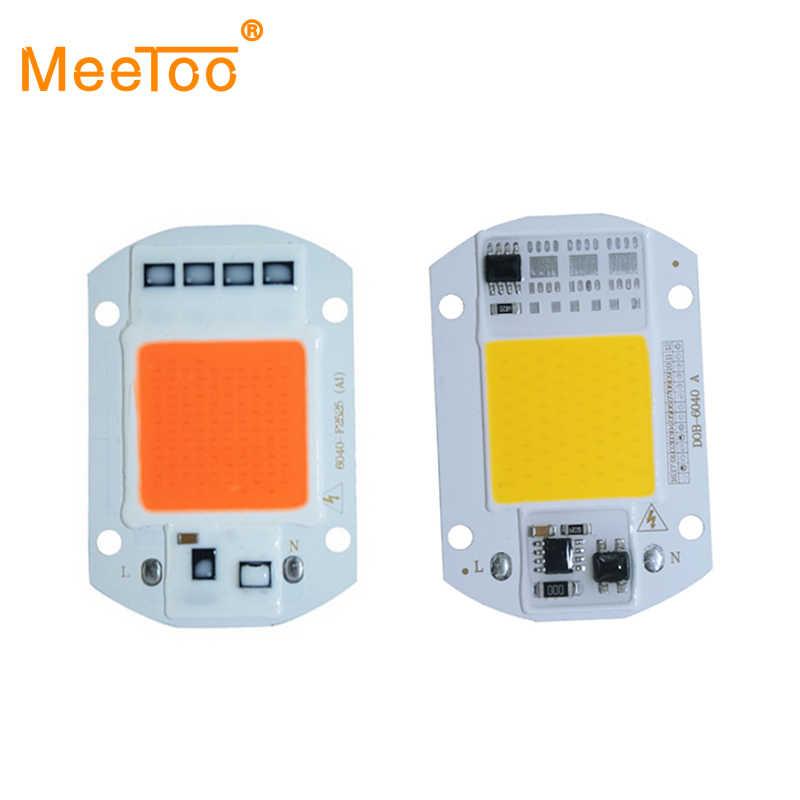 LED COB Chip 20W 30W 50W LED Lamp Chip And Grow Light Lamp 220V 110V Smart IC For DIY LED Flood Light Spotlight Cold Warm White