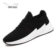 2019 Mesh Summer Casual Shoes Men Sports Shoes Outdoor Running Sneakers Lightweight Breathable Comfortable Walking Footwear ecco fashion brand men s casual shoes cow leather walking footwear round head breathable comfortable outdoor sneakers shoes