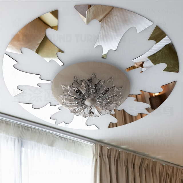Moderne Ontwerp Reflecterende Ronde Plafond Stickers Woonkamer ...