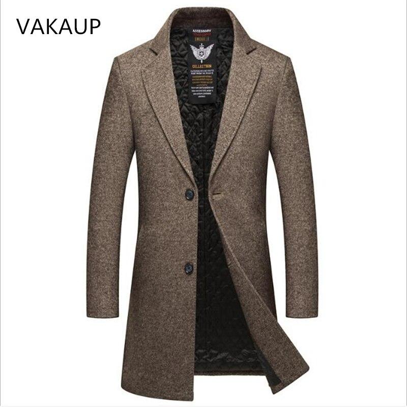 2018 новое зимнее шерстяное пальто для мужчин s Вязаная Шерстяная ветровка для мужчин s утолщенное шерстяное пальто для мужчин s повседневное