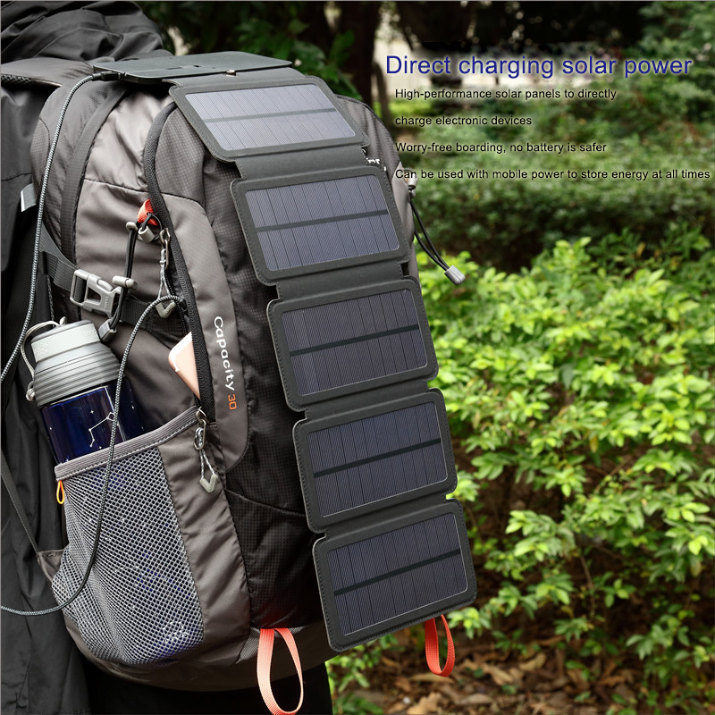 цена на useful Solar Panels Charger Portable Solar Power Bank Outdoors Emergency 5V/1A 10W Power Charger for Mobile Phone Tablets