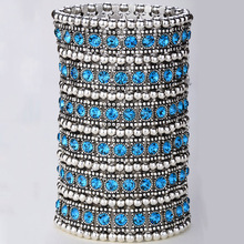 Multilayer stretch cuff bracelet women crystal wedding bridal fashion jewelry gifts for women her wife mom B14 6 row dropship